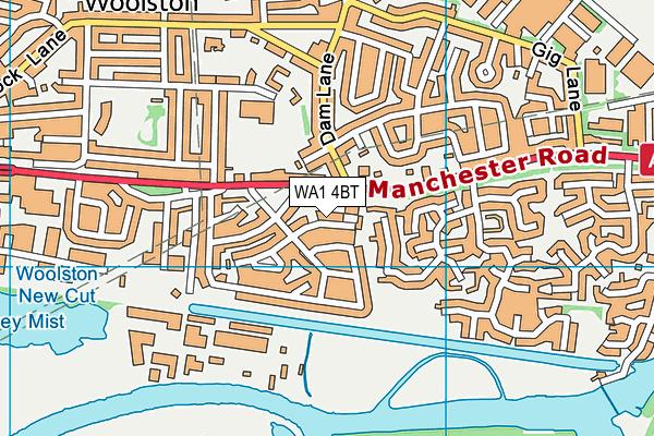WA1 4BT map - OS VectorMap District (Ordnance Survey)