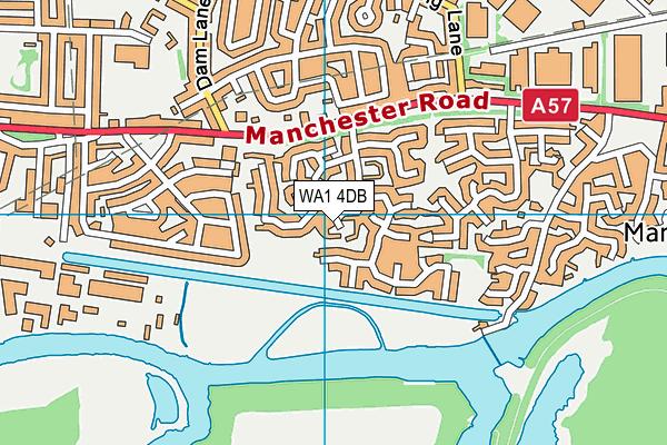 WA1 4DB map - OS VectorMap District (Ordnance Survey)