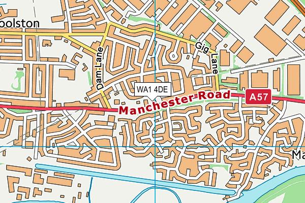 WA1 4DE map - OS VectorMap District (Ordnance Survey)