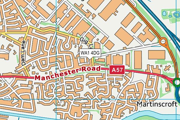 WA1 4DG map - OS VectorMap District (Ordnance Survey)
