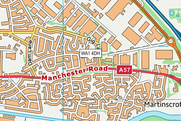 WA1 4DH map - OS VectorMap District (Ordnance Survey)