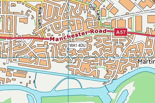 WA1 4DU map - OS VectorMap District (Ordnance Survey)