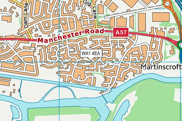 WA1 4EA map - OS VectorMap District (Ordnance Survey)