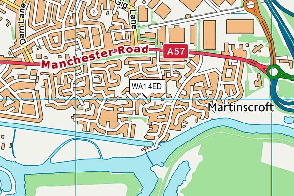 WA1 4ED map - OS VectorMap District (Ordnance Survey)