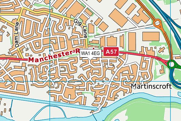 WA1 4EG map - OS VectorMap District (Ordnance Survey)