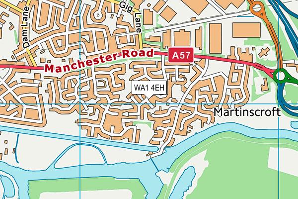 WA1 4EH map - OS VectorMap District (Ordnance Survey)