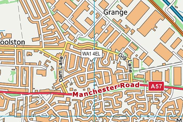 WA1 4EL map - OS VectorMap District (Ordnance Survey)