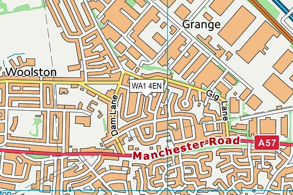 WA1 4EN map - OS VectorMap District (Ordnance Survey)