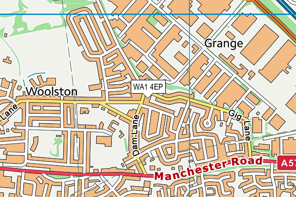 WA1 4EP map - OS VectorMap District (Ordnance Survey)