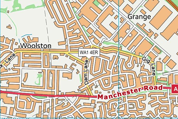 WA1 4ER map - OS VectorMap District (Ordnance Survey)