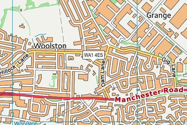 WA1 4ES map - OS VectorMap District (Ordnance Survey)