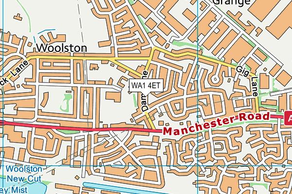 WA1 4ET map - OS VectorMap District (Ordnance Survey)