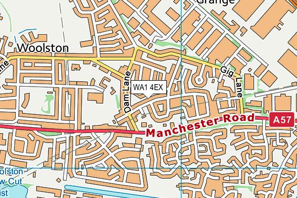 WA1 4EX map - OS VectorMap District (Ordnance Survey)