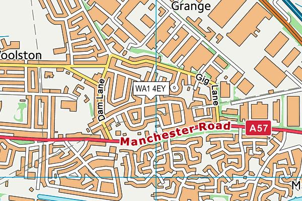 WA1 4EY map - OS VectorMap District (Ordnance Survey)