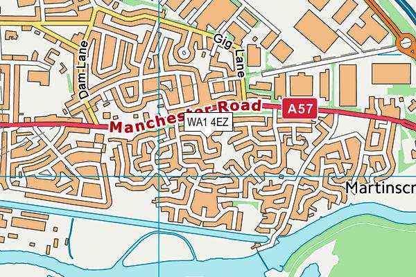 WA1 4EZ map - OS VectorMap District (Ordnance Survey)