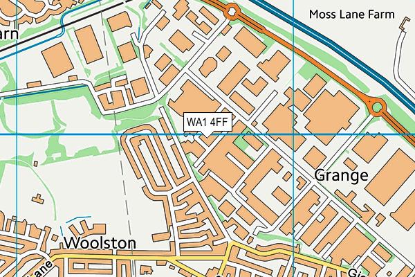 WA1 4FF map - OS VectorMap District (Ordnance Survey)
