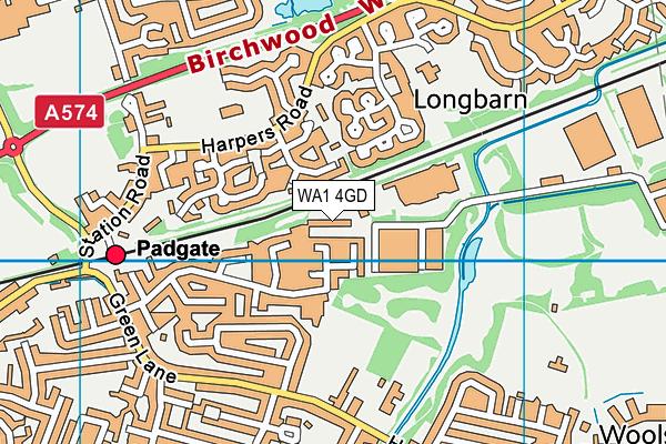 WA1 4GD map - OS VectorMap District (Ordnance Survey)