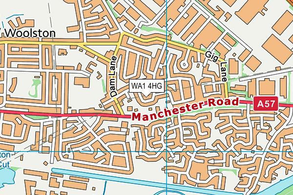 WA1 4HG map - OS VectorMap District (Ordnance Survey)