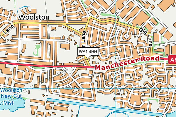 WA1 4HH map - OS VectorMap District (Ordnance Survey)