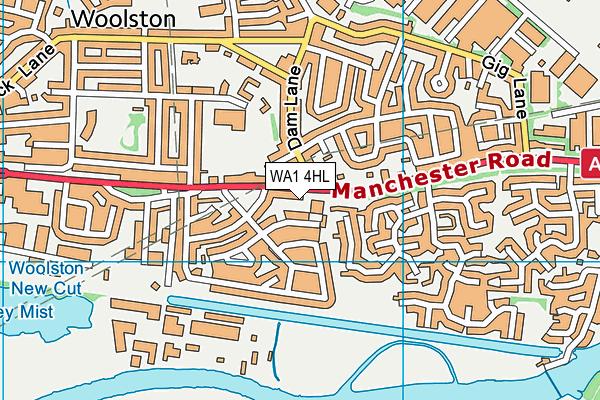 WA1 4HL map - OS VectorMap District (Ordnance Survey)