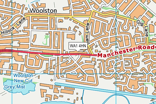 WA1 4HN map - OS VectorMap District (Ordnance Survey)