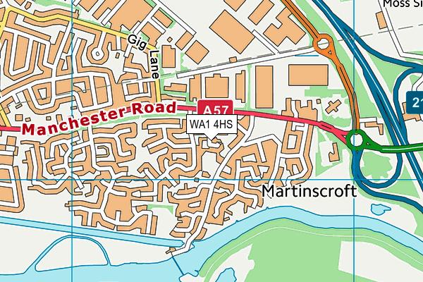 WA1 4HS map - OS VectorMap District (Ordnance Survey)