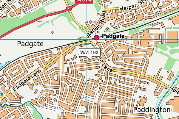 WA1 4HX map - OS VectorMap District (Ordnance Survey)