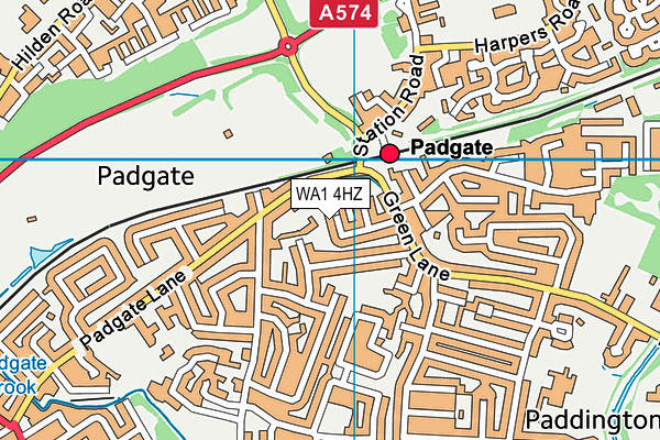 WA1 4HZ map - OS VectorMap District (Ordnance Survey)