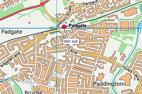 WA1 4JA map - OS VectorMap District (Ordnance Survey)