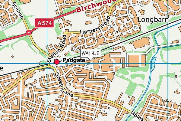 WA1 4JE map - OS VectorMap District (Ordnance Survey)
