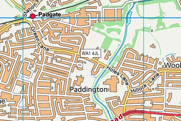 Woolston Brook School map (WA1 4JL) - OS VectorMap District (Ordnance Survey)