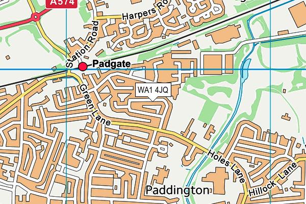WA1 4JQ map - OS VectorMap District (Ordnance Survey)