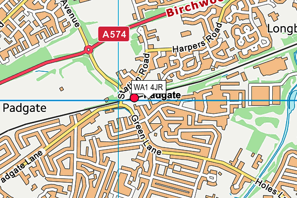 WA1 4JR map - OS VectorMap District (Ordnance Survey)
