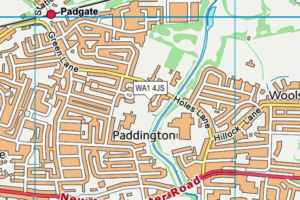 WA1 4JS map - OS VectorMap District (Ordnance Survey)