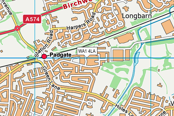 WA1 4LA map - OS VectorMap District (Ordnance Survey)