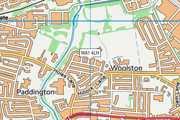 WA1 4LH map - OS VectorMap District (Ordnance Survey)