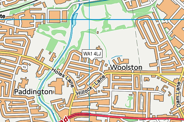 WA1 4LJ map - OS VectorMap District (Ordnance Survey)