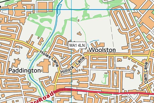 Woolston Park map (WA1 4LN) - OS VectorMap District (Ordnance Survey)