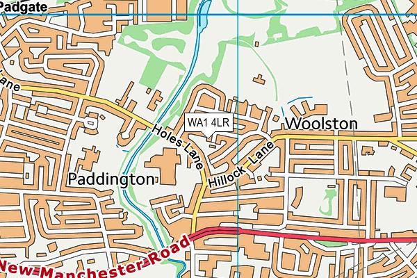 WA1 4LR map - OS VectorMap District (Ordnance Survey)