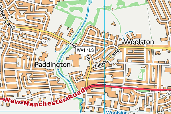 Green Lane Community Special School map (WA1 4LS) - OS VectorMap District (Ordnance Survey)