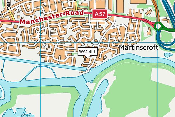 WA1 4LT map - OS VectorMap District (Ordnance Survey)