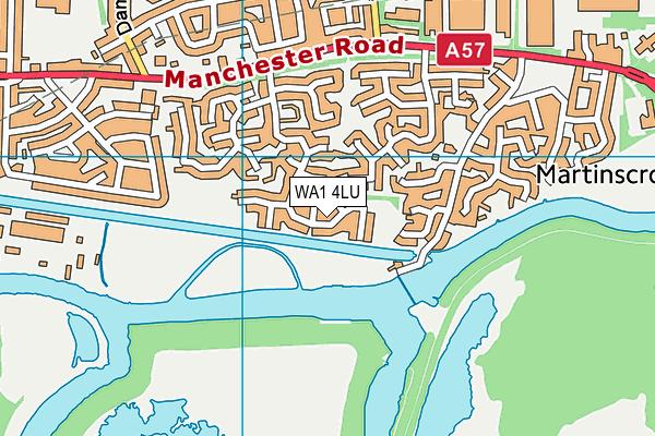 WA1 4LU map - OS VectorMap District (Ordnance Survey)