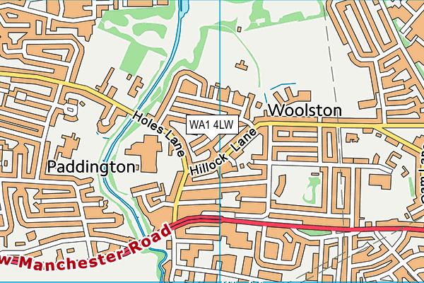 WA1 4LW map - OS VectorMap District (Ordnance Survey)