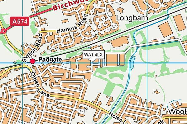 WA1 4LX map - OS VectorMap District (Ordnance Survey)