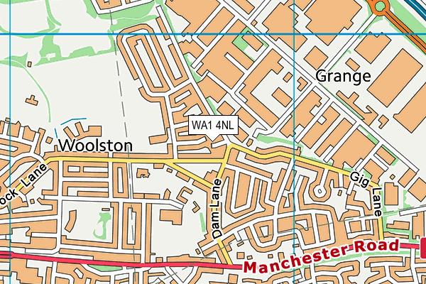 WA1 4NL map - OS VectorMap District (Ordnance Survey)