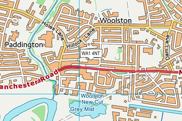 WA1 4NT map - OS VectorMap District (Ordnance Survey)