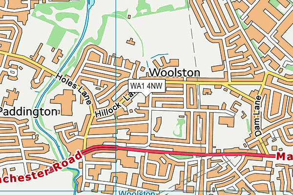 Woolston Community Primary School map (WA1 4NW) - OS VectorMap District (Ordnance Survey)