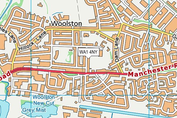 WA1 4NY map - OS VectorMap District (Ordnance Survey)