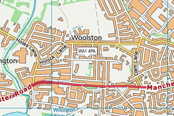WA1 4PA map - OS VectorMap District (Ordnance Survey)