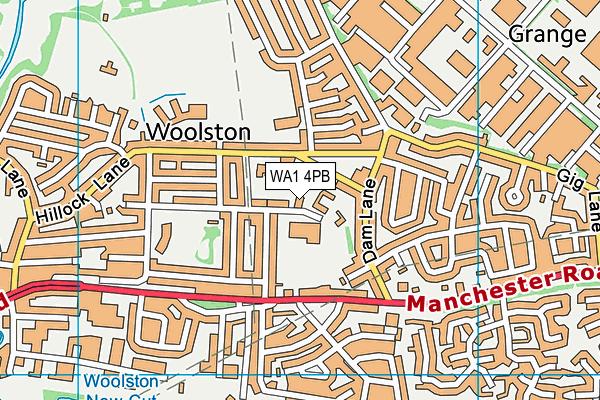 WA1 4PB map - OS VectorMap District (Ordnance Survey)